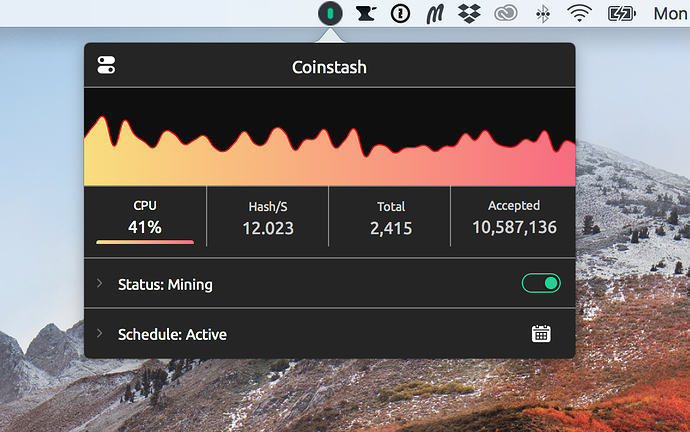 Introducing Coinstash - CPU Miner for MacOS - Blockchain